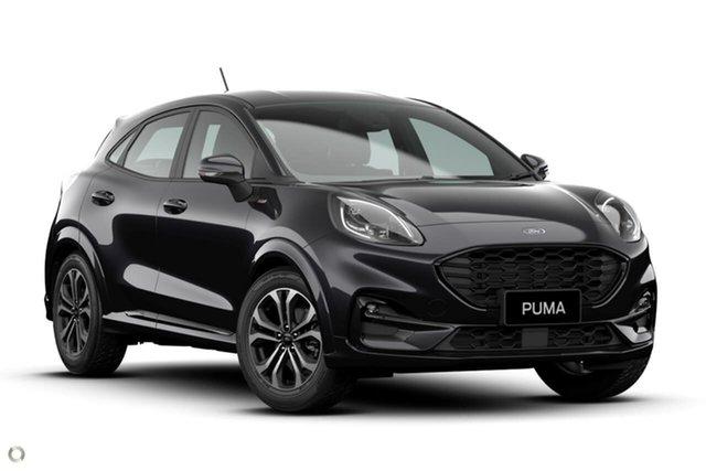 New Ford Puma JK 2021.25MY ST-Line Ferntree Gully, 2020 Ford Puma JK 2021.25MY ST-Line Black 7 Speed Sports Automatic Dual Clutch Wagon