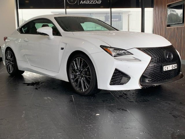 Used Lexus RC USC10R RC F Liverpool, 2014 Lexus RC USC10R RC F White 8 Speed Sports Automatic Coupe