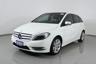 2014 Mercedes-Benz B180 246 MY14 White 7 Speed Auto Direct Shift Hatchback.