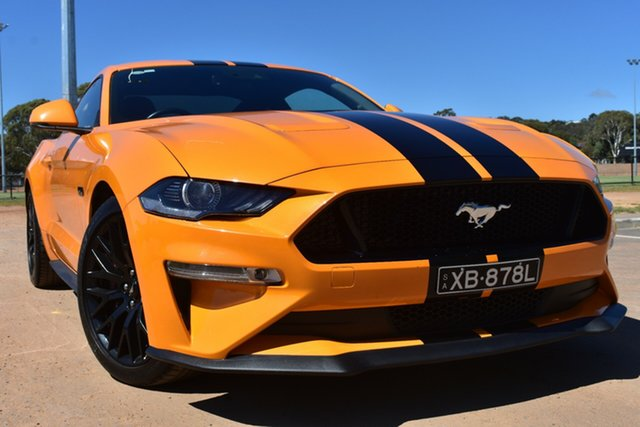 Used Ford Mustang FN 2018MY GT Fastback SelectShift St Marys, 2018 Ford Mustang FN 2018MY GT Fastback SelectShift Orange 10 Speed Sports Automatic Fastback