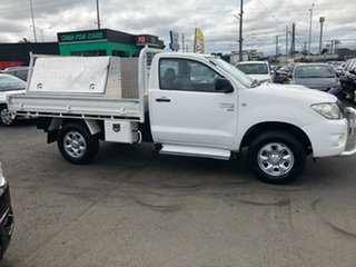 2009 Toyota Hilux KUN26R 09 Upgrade SR (4x4) White 5 Speed Manual X Cab Cab Chassis