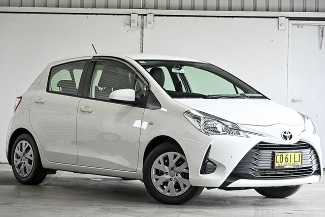 Used Toyota Yaris NCP130R Ascent Laverton North, 2017 Toyota Yaris NCP130R Ascent White 4 Speed Automatic Hatchback