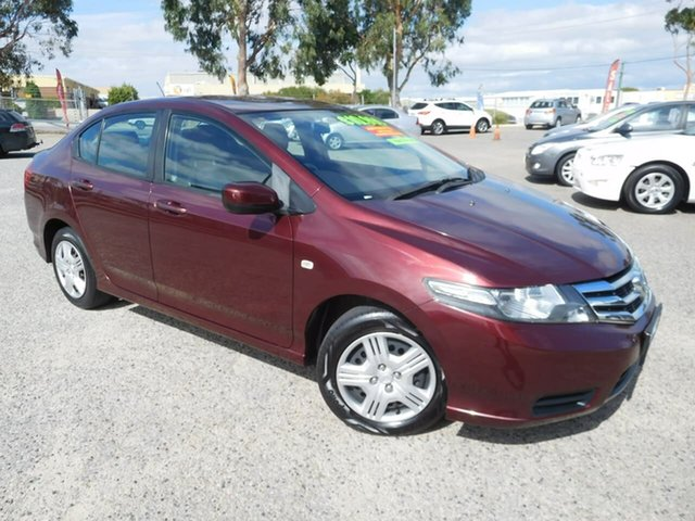 Used Honda City GM MY12 VTi Wangara, 2013 Honda City GM MY12 VTi Burgundy 5 Speed Automatic Sedan