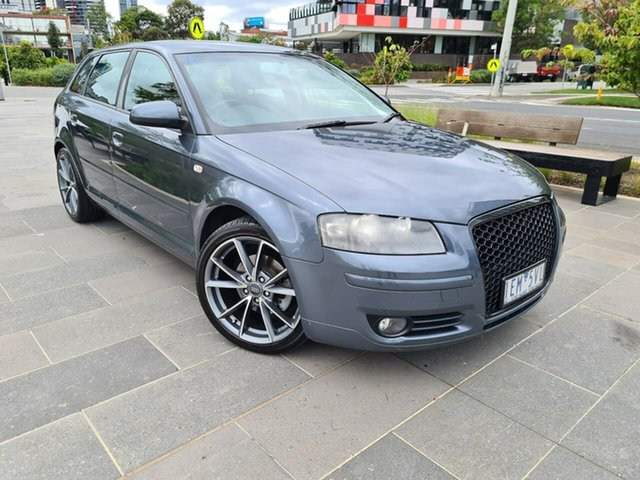Used Audi A3 8P Ambition Sportback Tiptronic South Melbourne, 2005 Audi A3 8P Ambition Sportback Tiptronic Grey 6 Speed Sports Automatic Hatchback