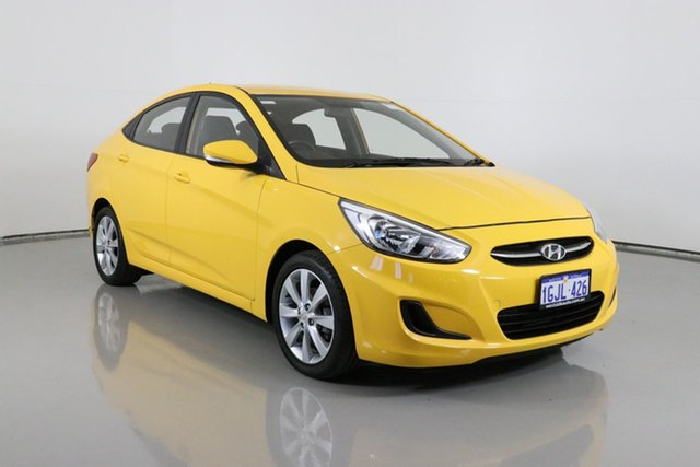 Used Hyundai Accent RB5 Sport Bentley, 2017 Hyundai Accent RB5 Sport Yellow 6 Speed Automatic Sedan