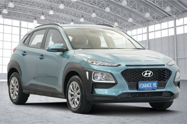 Used Hyundai Kona OS.2 MY19 Go 2WD Victoria Park, 2019 Hyundai Kona OS.2 MY19 Go 2WD Blue 6 Speed Sports Automatic Wagon