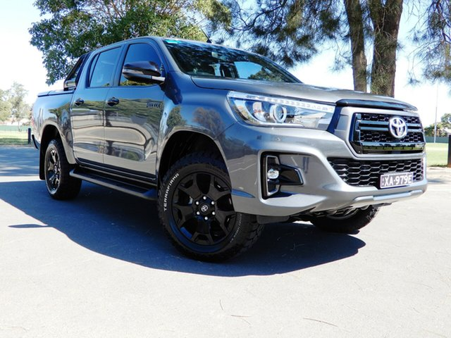 Used Toyota Hilux GUN126R Rogue Double Cab Glenelg, 2018 Toyota Hilux GUN126R Rogue Double Cab Grey 6 Speed Sports Automatic Utility