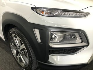 2020 Hyundai Kona OS.3 MY20 Highlander D-CT AWD White 7 Speed Sports Automatic Dual Clutch Wagon