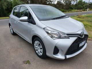 2015 Toyota Yaris NCP130R Ascent Silver Automatic Hatchback.