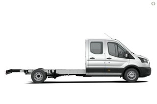 2020 Ford Transit 470E White 6 Speed Manual Double Cab Chassis.