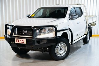 2015 Nissan Navara NP300 D23 RX (4x4) White 6 Speed Manual Double Cab Utility.