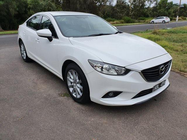 Used Mazda 6 GJ Sport Geelong, 2013 Mazda 6 GJ Sport White Sports Automatic Sedan