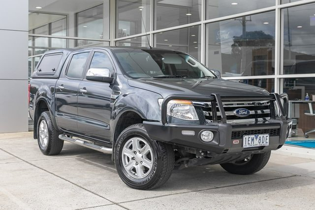 Used Ford Ranger PX XLT Double Cab Ferntree Gully, 2015 Ford Ranger PX XLT Double Cab Grey 6 Speed Sports Automatic Utility