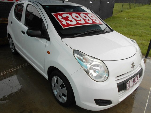 Used Suzuki Alto GF GL Springwood, 2010 Suzuki Alto GF GL White 5 Speed Manual Hatchback