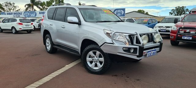 Used Toyota Landcruiser Prado GDJ150R GXL East Bunbury, 2015 Toyota Landcruiser Prado GDJ150R GXL Silver 6 Speed Sports Automatic Wagon