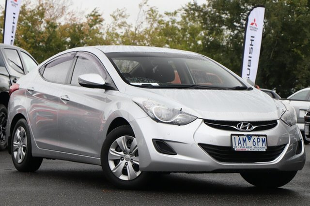 Used Hyundai Elantra MD2 Active Essendon North, 2013 Hyundai Elantra MD2 Active Silver, Chrome 6 Speed Sports Automatic Sedan