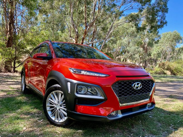 Used Hyundai Kona OS MY18 Elite 2WD Reynella, 2017 Hyundai Kona OS MY18 Elite 2WD Tangerine Comet 6 Speed Sports Automatic Wagon