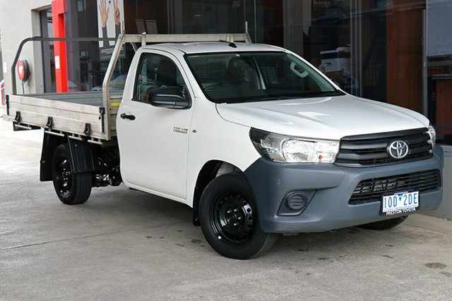 Pre-Owned Toyota Hilux GUN122R Workmate 4x2 Preston, 2017 Toyota Hilux GUN122R Workmate 4x2 White 5 Speed Manual Cab Chassis