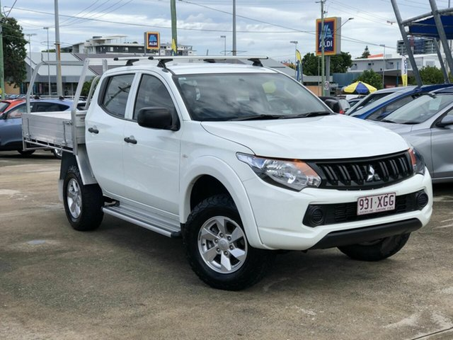 Used Mitsubishi Triton MQ MY17 GLX+ Double Cab Chermside, 2017 Mitsubishi Triton MQ MY17 GLX+ Double Cab White 5 Speed Sports Automatic Utility