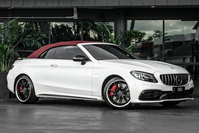 Used Mercedes-Benz C-Class A205 809MY C63 AMG SPEEDSHIFT MCT S Bowen Hills, 2019 Mercedes-Benz C-Class A205 809MY C63 AMG SPEEDSHIFT MCT S White 9 Speed Sports Automatic