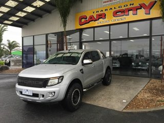 2013 Ford Ranger PX XLT 3.2 (4x4) Silver 6 Speed Manual Double Cab Pick Up.