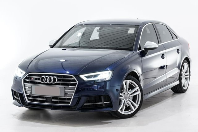 Used Audi S3 8V MY18 S Tronic Quattro Berwick, 2018 Audi S3 8V MY18 S Tronic Quattro Blue 7 Speed Sports Automatic Dual Clutch Sedan