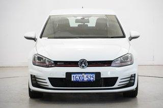 2016 Volkswagen Golf VII MY16 GTi White 6 Speed Manual Hatchback.