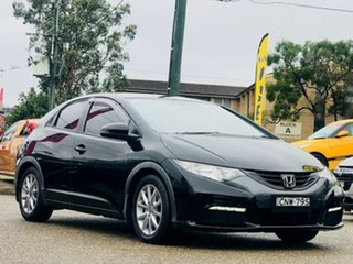 2013 Honda Civic 9th Gen MY13 VTi-S Black 5 Speed Sports Automatic Hatchback