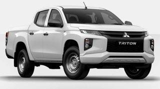 2020 Mitsubishi Triton MR MY21 GLX Double Cab White 6 Speed Manual Utility