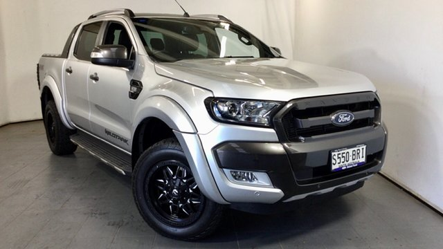 Used Ford Ranger PX MkII Wildtrak Double Cab Elizabeth, 2017 Ford Ranger PX MkII Wildtrak Double Cab Silver 6 Speed Sports Automatic Utility