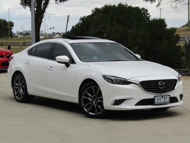 Used Mazda 6 GL1021 Atenza SKYACTIV-Drive Ravenhall, 2016 Mazda 6 GL1021 Atenza SKYACTIV-Drive White 6 Speed Sports Automatic Sedan