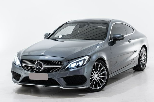 Used Mercedes-Benz C-Class C205 C300 7G-Tronic + Berwick, 2016 Mercedes-Benz C-Class C205 C300 7G-Tronic + Grey 7 Speed Sports Automatic Coupe