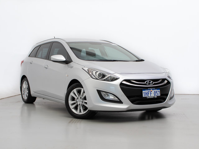Used Hyundai i30 GD Tourer Active 1.6 GDi, 2015 Hyundai i30 GD Tourer Active 1.6 GDi Silver 6 Speed Automatic Wagon