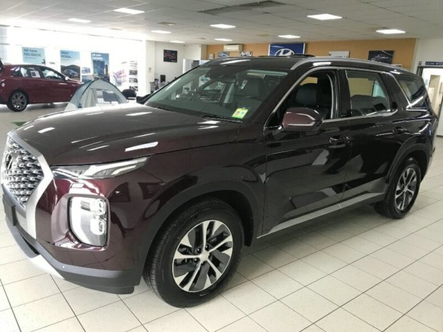 Demo Hyundai Palisade LX2.V1 MY21 2WD Melton, 2020 Hyundai Palisade LX2.V1 MY21 2WD Sierra Burgundy 8 Speed Sports Automatic Wagon
