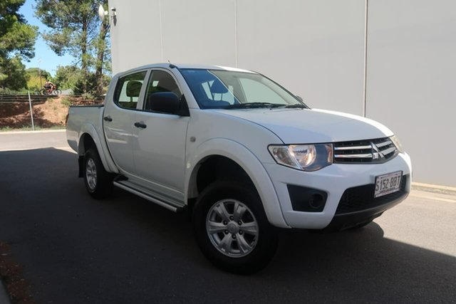 Used Mitsubishi Triton MN MY15 GLX Double Cab Reynella, 2014 Mitsubishi Triton MN MY15 GLX Double Cab White 4 Speed Sports Automatic Utility