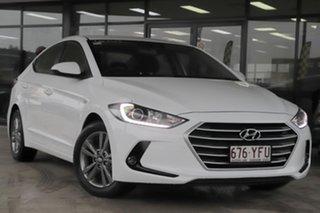 2018 Hyundai Elantra AD MY18 Active Polar White 6 Speed Sports Automatic Sedan.