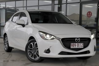 2017 Mazda 2 DL2SA6 GT SKYACTIV-MT Snowflake White Pearl 6 Speed Manual Sedan.