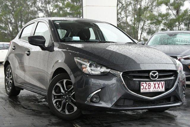 Used Mazda 2 DJ2HAA Genki SKYACTIV-Drive North Lakes, 2018 Mazda 2 DJ2HAA Genki SKYACTIV-Drive Grey 6 Speed Sports Automatic Hatchback