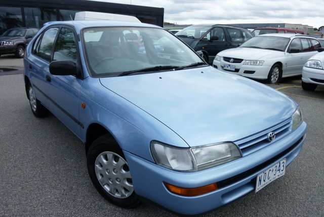 Used Toyota Corolla AE101R CSX Seca Cheltenham, 1995 Toyota Corolla AE101R CSX Seca Blue 4 Speed Automatic Liftback