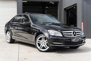 2010 Mercedes-Benz C-Class W204 MY10 C250 CGI Avantgarde Obsidian Black 5 Speed Sports Automatic.