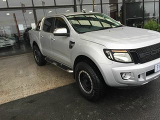 2013 Ford Ranger PX XLT 3.2 (4x4) Silver 6 Speed Manual Double Cab Pick Up