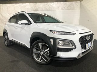 2020 Hyundai Kona OS.3 MY20 Highlander D-CT AWD White 7 Speed Sports Automatic Dual Clutch Wagon.