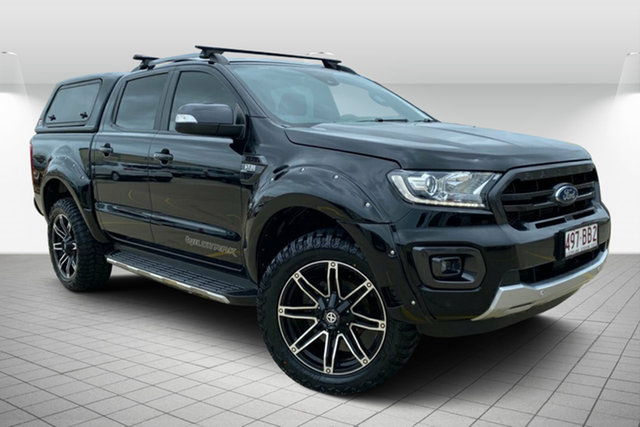 Used Ford Ranger PX MkIII 2019.00MY Wildtrak Hervey Bay, 2018 Ford Ranger PX MkIII 2019.00MY Wildtrak Black 6 Speed Sports Automatic Utility