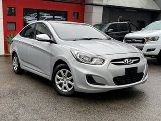 2013 Hyundai Accent RB Active Metallic Silver 4 Speed Sports Automatic Sedan.