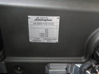2006 Lamborghini Gallardo L140 Black 6 Speed Sequential Manual Coupe