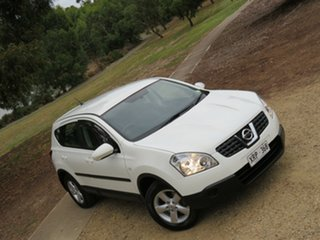 2007 Nissan Dualis J10 ST X-tronic AWD White 6 Speed Constant Variable Hatchback