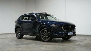 2018 Mazda CX-5 KF4W2A Akera SKYACTIV-Drive i-ACTIV AWD Blue 6 Speed Sports Automatic Wagon.