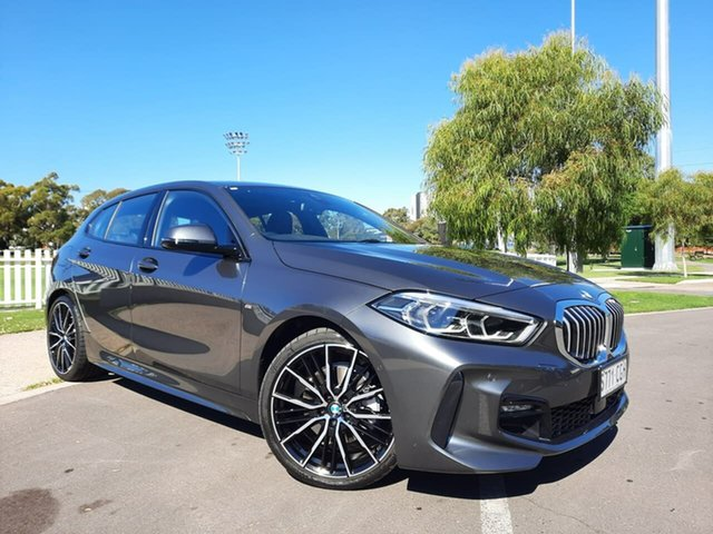 Used BMW 1 Series F40 118i DCT Steptronic M Sport Adelaide, 2020 BMW 1 Series F40 118i DCT Steptronic M Sport Grey 7 Speed Sports Automatic Dual Clutch