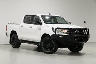 2015 Toyota Hilux GUN126R SR (4x4) White 6 Speed Automatic Dual Cab Utility.