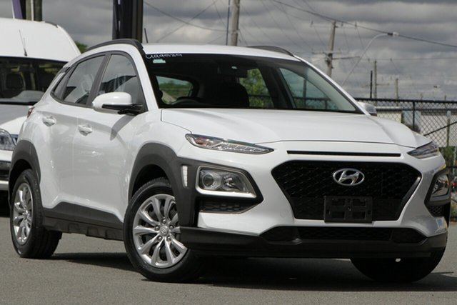 Used Hyundai Kona OS.2 MY19 Go 2WD Rocklea, 2019 Hyundai Kona OS.2 MY19 Go 2WD Chalk White 6 Speed Sports Automatic Wagon